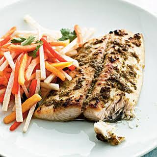 Jerk Mackerel with Papaya Salad.
