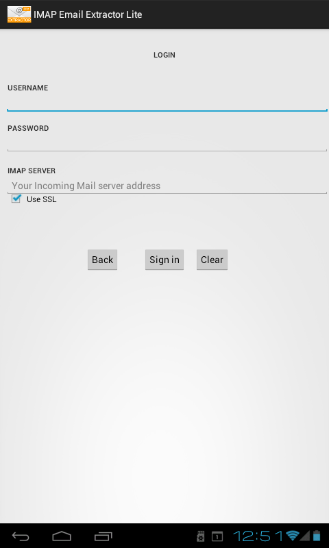 IMAP Email Extractor Lite- screenshot