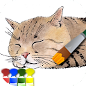 Coloring adult (Cat) icon
