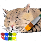 Coloring adult (Cat)