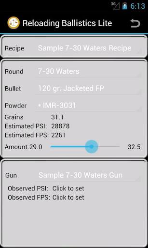 7-30 Waters Ballistics Data