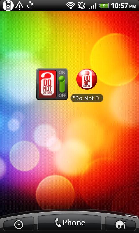 """Do Not Disturb"" (android 2.2)- screenshot"