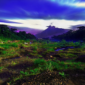 Mt. Merapi View by Ferry Febriyanto - Landscapes Mountains & Hills