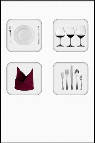 How to set the table - screenshot