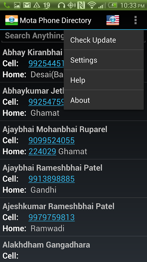 Mota Phone Directory- screenshot
