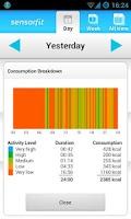 Screenshot of Sensorfit Activity Tracker