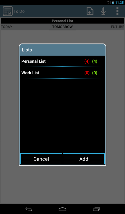 To Do List & Widget- screenshot