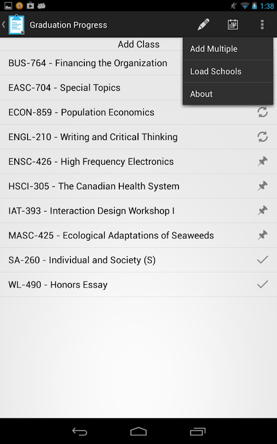 Student Central- screenshot