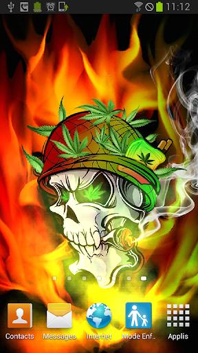 【免費個人化App】Skull Soldier Weed Parallax 3D-APP點子