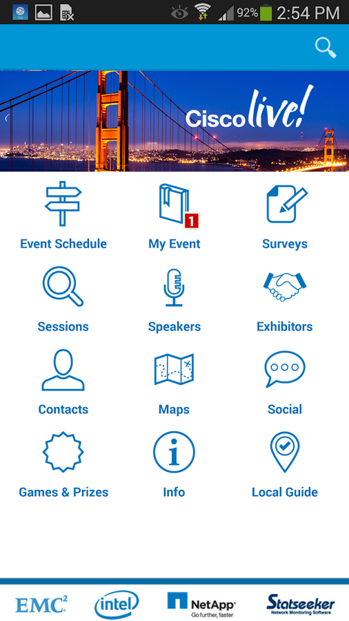 Cisco Events- screenshot