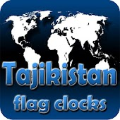 Tajikistan flag clocks