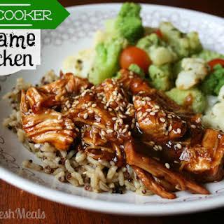 Sweet Slow Cooker Sesame Chicken.