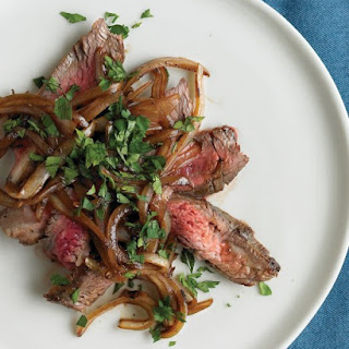 Pan-Seared Steak with Onion and Worcestershire.
