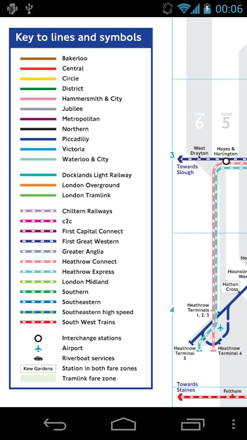 London Tube and Rail Map Free - screenshot