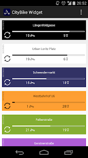 CityBike Vienna Widget screenshot