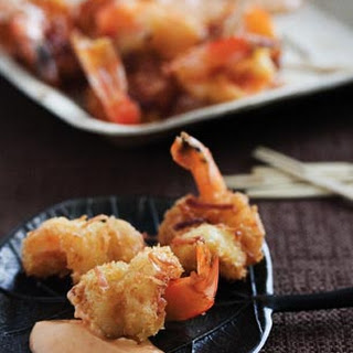 Coconut Shrimp with Sweet Chili Mayo.