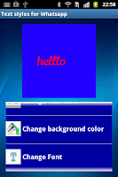 Screenshot of Whats text art creator