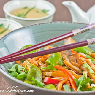 Stir fry vegetables with Udon Noodles.