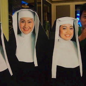Beautiful nuns by Jay Reynon - Novices Only Portraits & People ( nuns, sister act, devil behind )