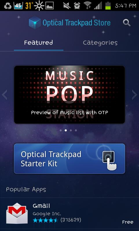 Optical Trackpad Store - screenshot