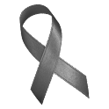 Gray Awareness Ribbon Clock logo