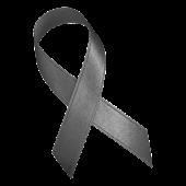 Gray Awareness Ribbon Clock