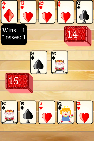 Speed Card Game - screenshot