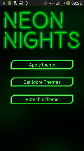 GO Keyboard Green Neon Theme