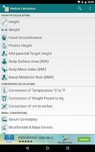 Medical Calculators screenshot for Android