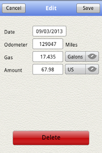 Gasoline Log- screenshot thumbnail