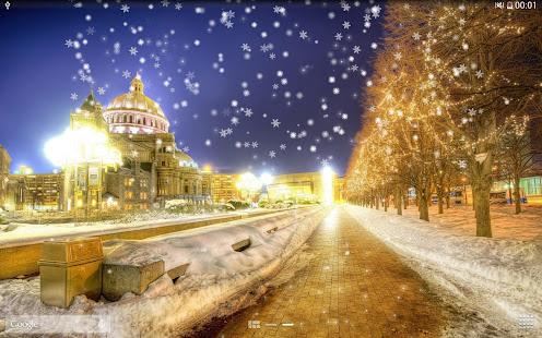 Snow Night Live Wallpaper HD 9