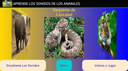Animals Sounds, learn Spanish  screenshots 1