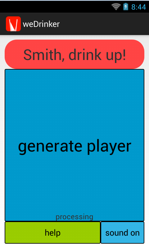 Drinking games - screenshot