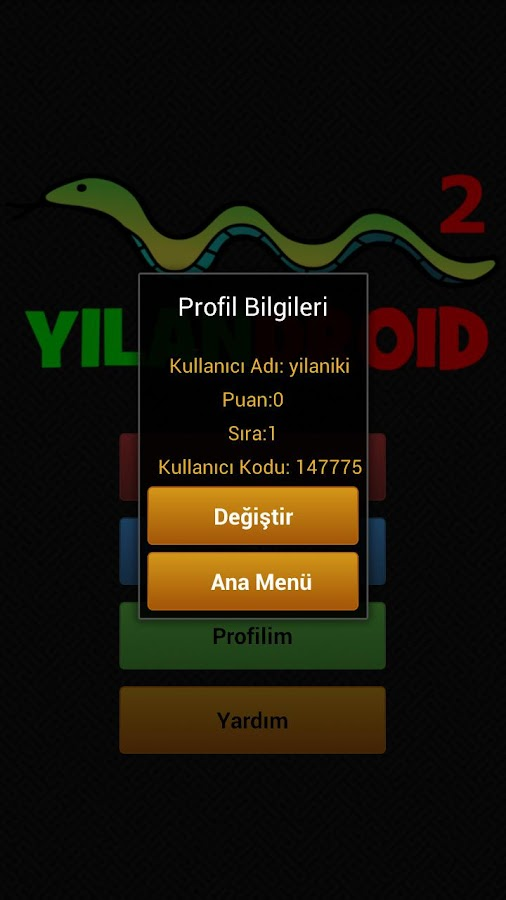 Yılandroid 2 - screenshot