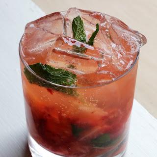 Strawberry-Bourbon Cobbler.