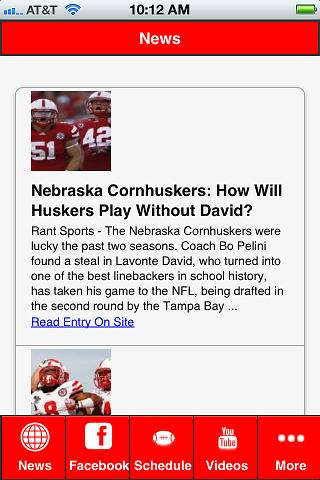 Nebraska Football - screenshot