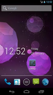 Roboto Clock- screenshot thumbnail