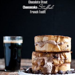 Chocolate Stout Cheesecake Stuffed French Toast