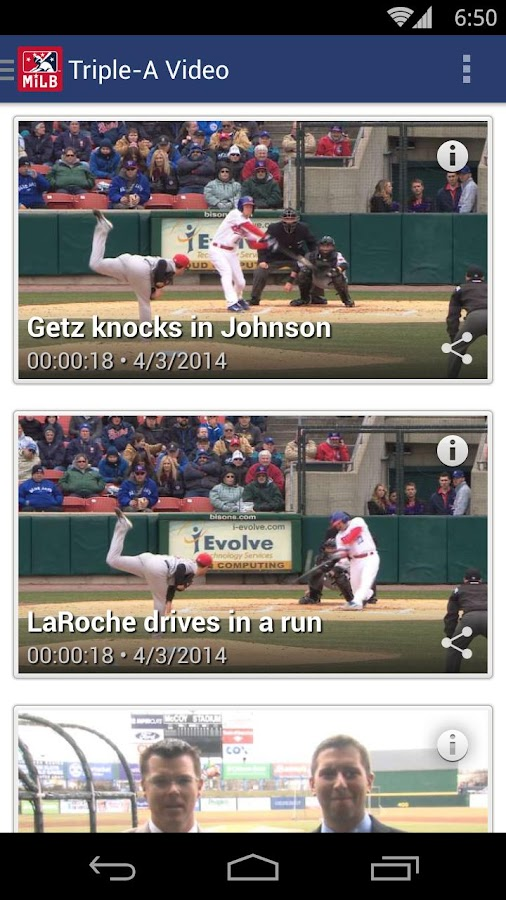 MiLB First Pitch - screenshot