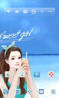 Screenshot of 스위트걸 sunshine beach 도돌런처 테마