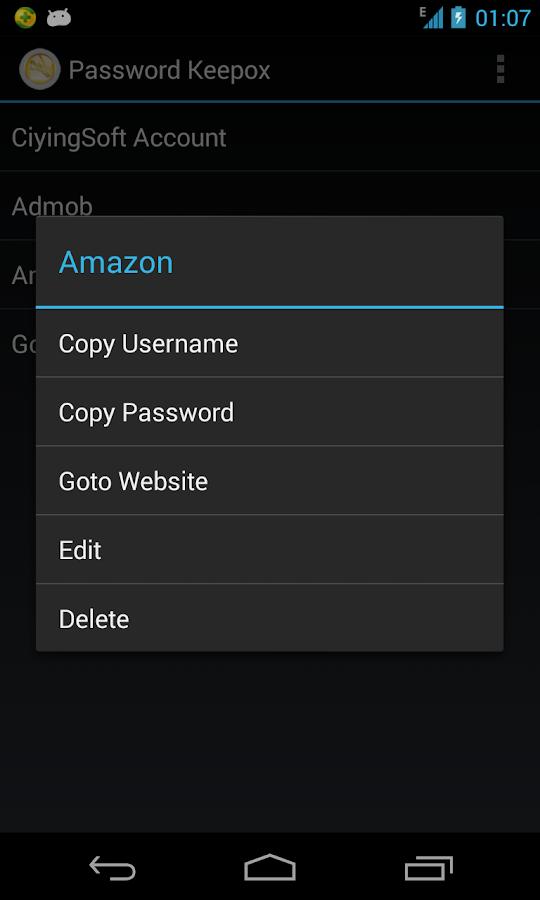 Password Keepox Free - screenshot