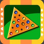 Triangle Peg Jump Puzzle Free