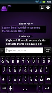 GO SMS Dark Purple Theme - screenshot thumbnail