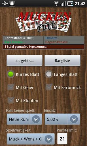 MUCKEN - KARTENSPIEL free