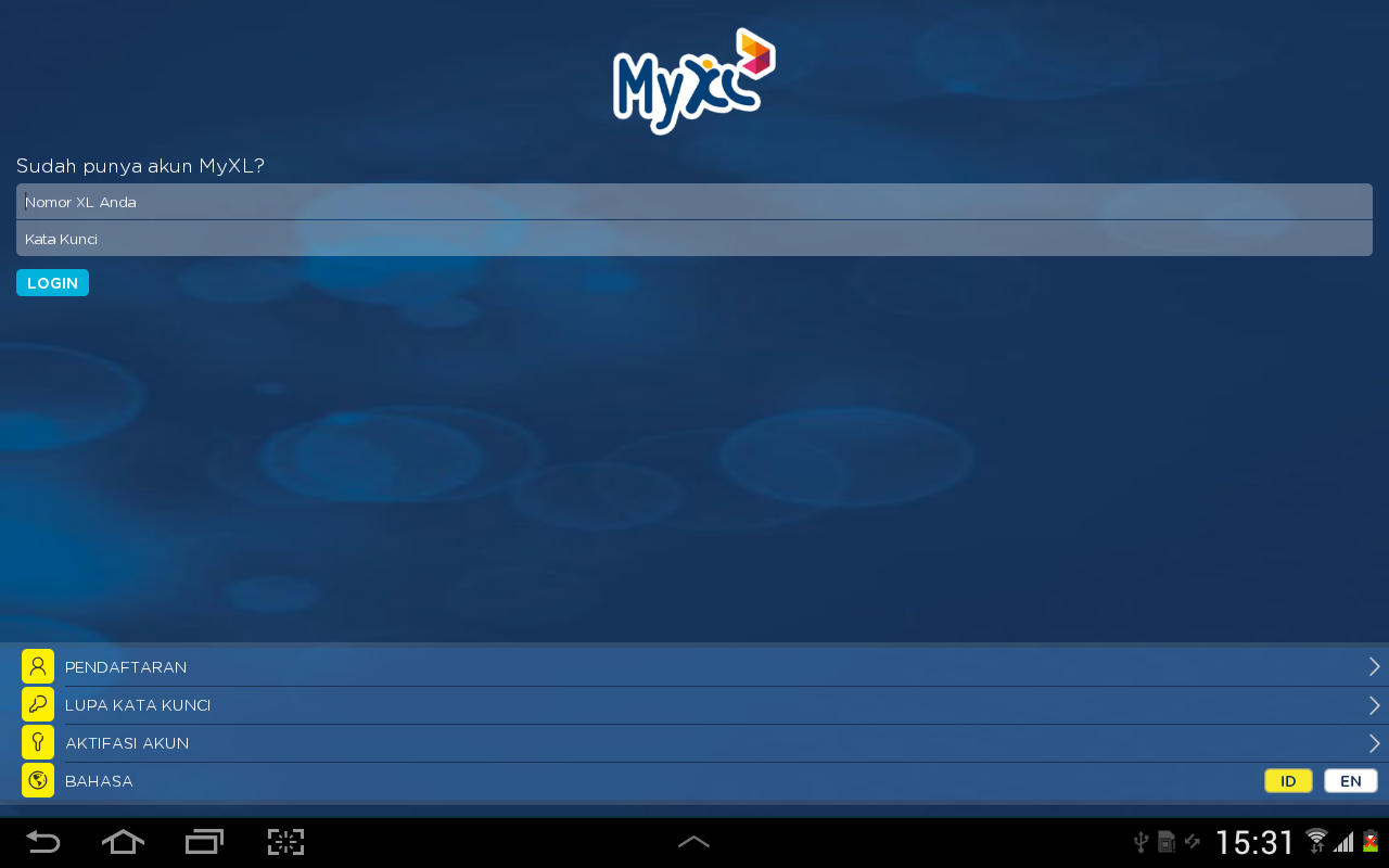 MyXL - screenshot