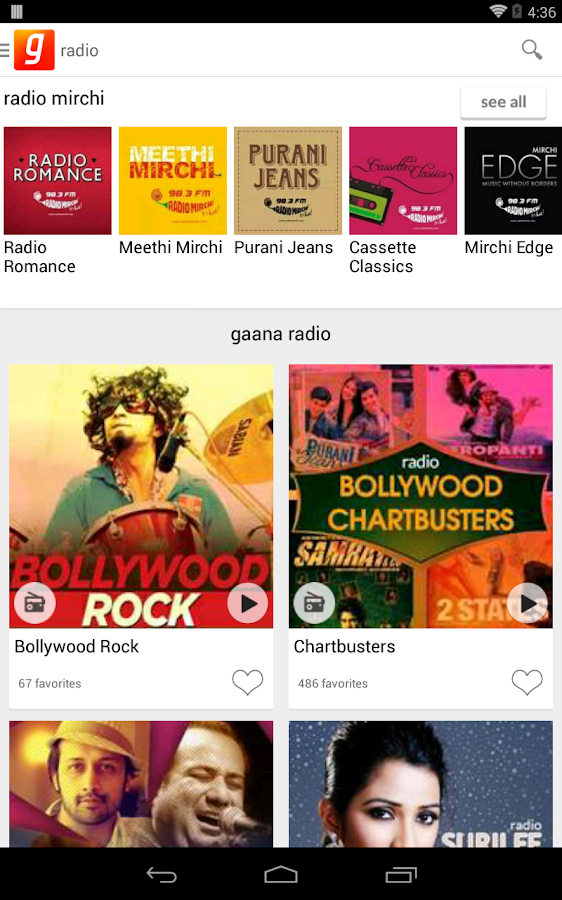 Download the Gaana – Hindi Songs Online Android Apps On