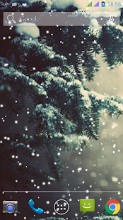 Lovely Snowfall Wallpaper Free - náhled