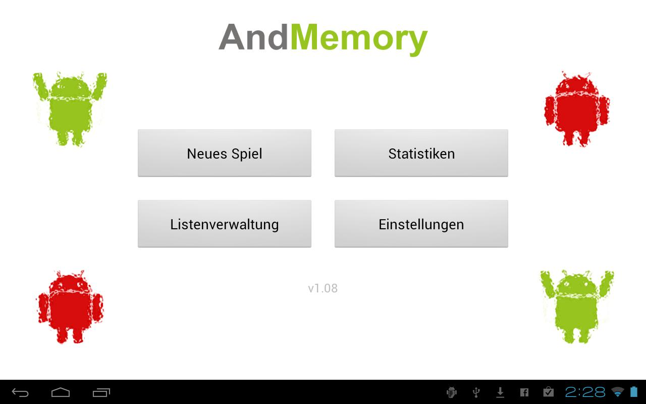 AndMemory Vocabulary Trainer- screenshot