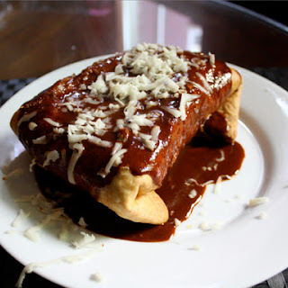 Rice and Bean Chimichanga