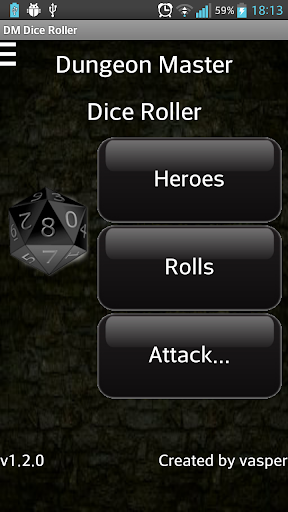 Dungeon Master Dice Roller